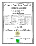 Common Core State Standards Language Arts Second Grade Trimester Checklists