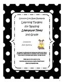Common Core State Standards Learning Targets:  Literature Texts - 2nd Grade