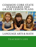 Common Core State Standards Lesson Plan Book - 2nd Grade