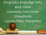 Common Core State Standards Lesson Plan Template Bundle (E