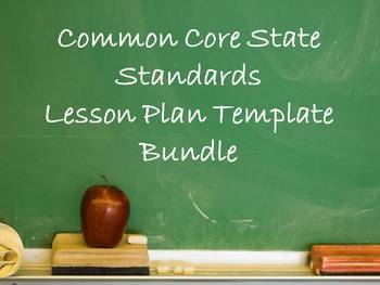 lesson plan template using common core standards - common core state standards lesson plan by apples 4