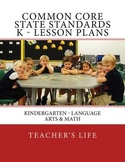 Common Core State Standards Lesson Plans - Kindergarten