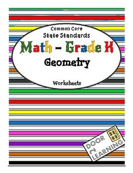 Common Core State Standards Math - Grade K Geometry