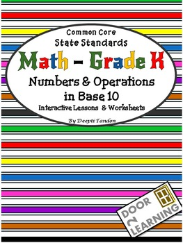 Common Core State Standards Math - Grade K, Numbers & Oper