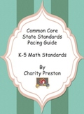 Common Core State Standards Math Pacing Guides for Grades K-5