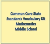 Common Core State Standards Math Vocabulary Kit Middle School