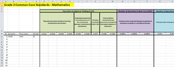 Common Core State Standards Maths Tracking Sheet