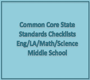 Common Core State Standards Middle School Checklist