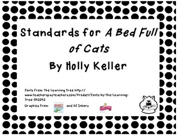 Common Core State Standards Pack for Harcourt Trophies Story Bed Full of Cats