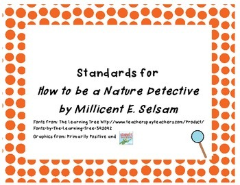 Common Core State Standards Pack for How to be a Nature Detective