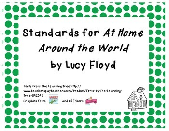 Common Core State Standards Pack for Trophies Story At Home Around the World
