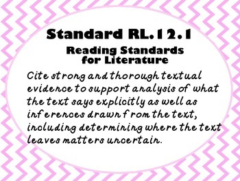 Common Core State Standards Posters for ELA 11-12