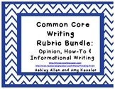 Common Core State Standards Rubric Bundle Text Complexity
