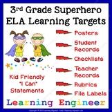 3rd Grade Checklist, 3rd Grade Learning Target Poster, Sup