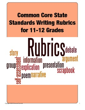 Common Core State Standards Writing Rubrics (Grades 11-12)
