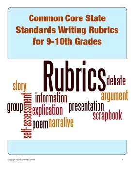 Common Core State Standards Writing Rubrics (Grades 9-10)