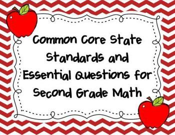 Common Core State Standards and Essential Questions for 2nd Grade Math