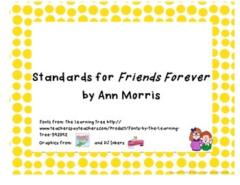 Common Core State Standards for Trophies Friends Forever Story