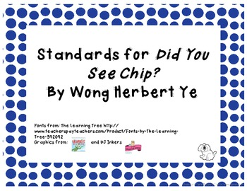 Common Core State Standards pack for Trophies Story Did You See Chip?