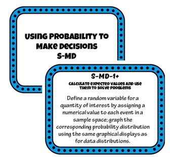 Common Core - Statistics & Probability: High School Common Core Standard Posters
