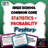 High School Math Common Core Statistics & Probability Standards Posters