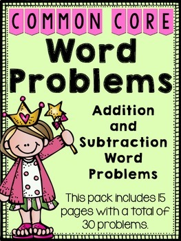 Word Problems {Story Problems}