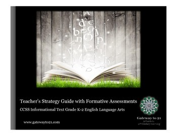 Common Core Strategy Guide with Formative Assessments Informational Text K-2