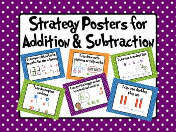 Common Core Strategy Posters for Addition and Subtraction