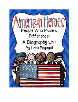 Biography Unit:  People Who Made a Difference (Common Core Strategy Sessions)