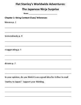 Flat Stanley Unit for Worldwide Adventures (Common Core Strategy Sessions)