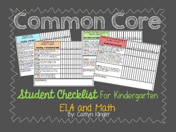 Common Core Student Checklist