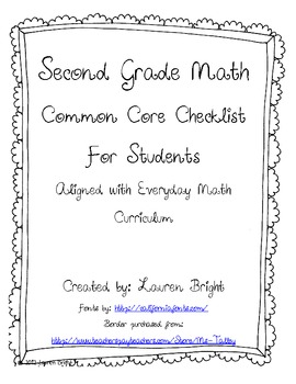 Common Core Student Checklist