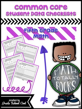 Common Core Student Data Checklists: Fifth Grade: Math
