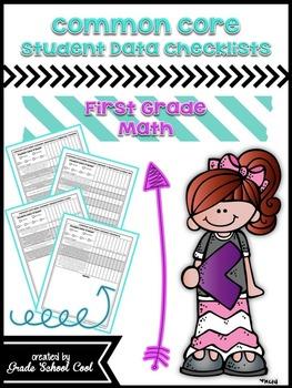 Common Core Student Data Checklists: First Grade: Math