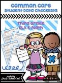 Common Core Student Data Checklists: Third Grade: ELA & Math