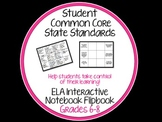 Common Core Student Flipbook for ELA Interactive Notebooks {Grades 6-8}