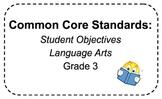 Common Core Student Objectives 3rd Grade Language Arts