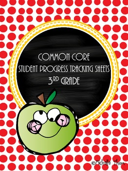 Common Core Student Progress Tracking Sheets {3rd Grade}