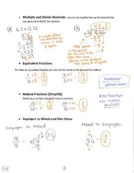 Common Core Study Guide - 5th Grade Math