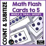 Subitizing Cards Five-Frame Flash