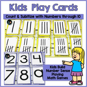 Subitizing and Number Sense Kids Play Cards