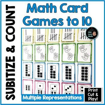 Subitizing & Number Sense: Kids Play Cards!