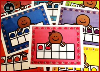Gingerbread Man Ten Frames