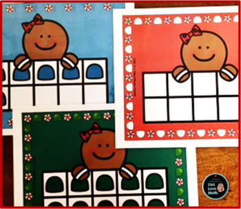 Math Activities with Ten Frames and the Gingerbread Man