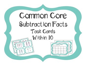 Common Core Subtraction Facts Within 10