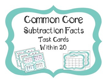 Common Core Subtraction Facts Within 20
