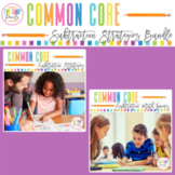 Common Core Subtraction Strategies Worksheets and Games Bundle