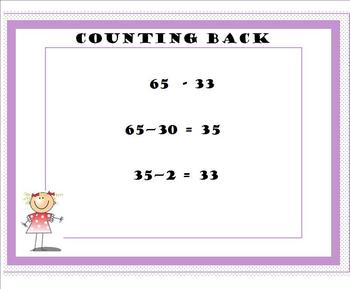 Common Core Subtraction Strategy Posters for 2 Digit Numbers