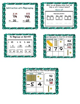 Common Core Subtraction with Regrouping