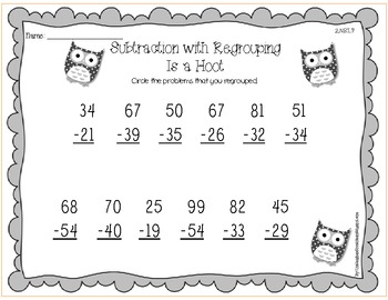 common core subtraction with regrouping is a hoot 2 nbt 7 tpt. Black Bedroom Furniture Sets. Home Design Ideas